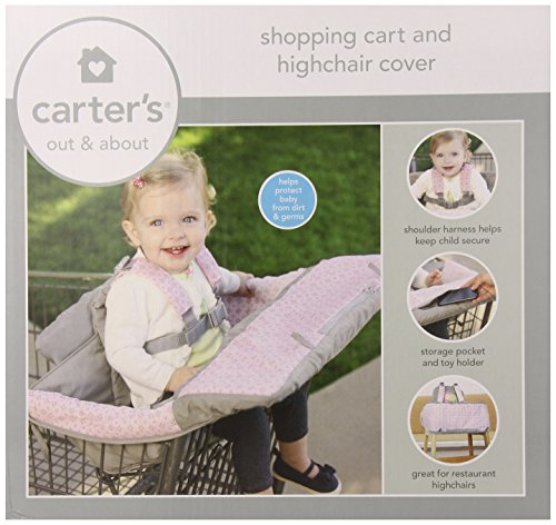 Carter'S 2-In-1 Shopping Cart Cover, Pink front-176427