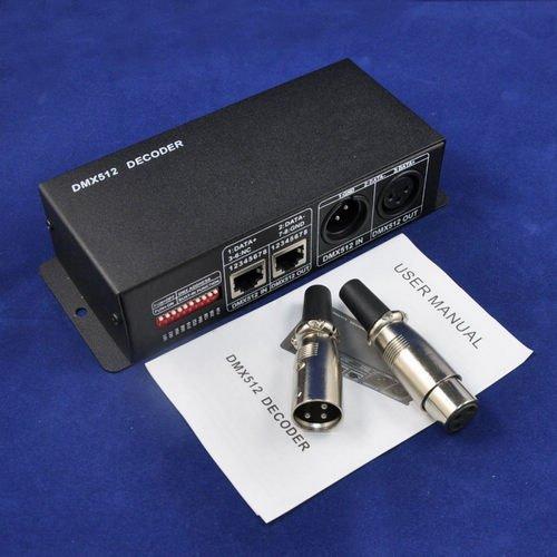 Dhl/Ems Shipping 10Pcs/Lot Dc5V-24V Dmx 512 Decoder Rgb Led Controller 4A Output Current 4 Channels For Rgb Led Lightingkingneon