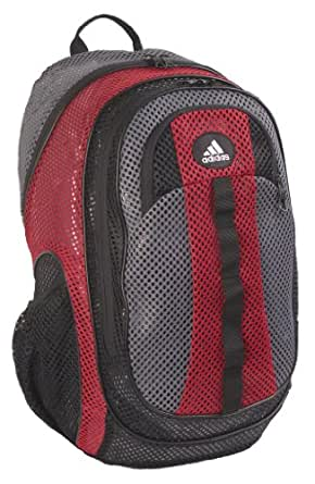 adidas Forman Mesh Backpack 5130857 Backpack,Imperial Red/Thunder Grey,One Size