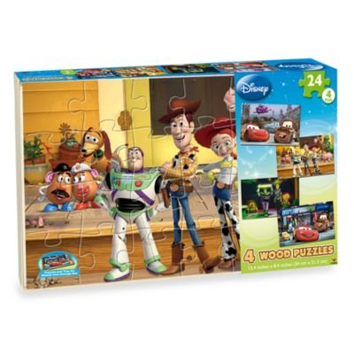 Disney 4-pack Wooden Puzzles - 1