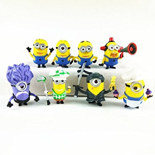 Despicable Me Minions Set of 8 Action Figures included Minion Ninja Fireman Baker Golfer Stuart Dave
