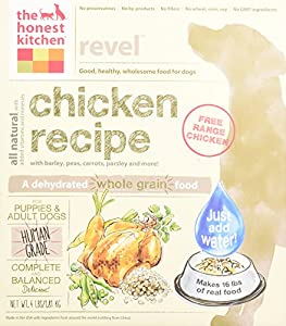 The Honest Kitchen Revel Chicken and Whole Grain Dog Food, 4-Pound