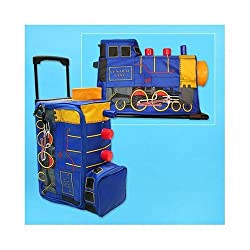 TRAIN kids TRAVEL SUITCASE rolling BAG suit case