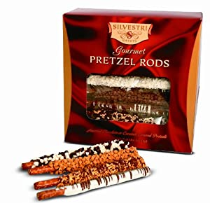 Silvestri Sweets Gourmet Pretzel Rods, 40-Ounce Packages (Pack of 12)
