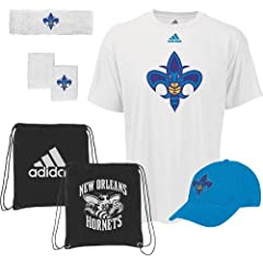 New Orleans Hornets Adidas NBA To the Court 5-Piece Shirt Hat Combo Pack by adidas