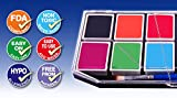 Face Paint Kit for Kids (X-Large). Best Quality Body Painting Kit with 12 Colors + BONUS Glitter Gel, 3 Brushes & Online Tutorial. Non Toxic Water Based. Enough For 100s Boys & Girls Faces