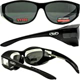 Escort Safety Glasses Over-Prescription Most Prescription Eyewear Smoke Lenses Has Matching Side Lens to Keep Sun From Coming in on the Sides Great for a Person Who Is Sensitive to Light