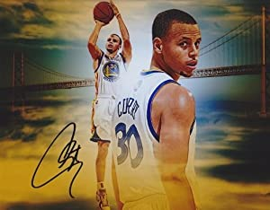 Stephen Curry Autographed Hand Signed Golden State Warriors 8x10 Photo by Real Deal Memorabilia