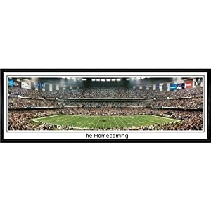 New Orleans Saints The Homecoming - 13.5x39 Standard Black Frame by Everlasting Images