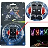 TOPCABIN® LED Shoelaces with Continuous and 2 Blinking Modes in 5 Colors Flash Lighting the Night for Party Hip-hop Dancing