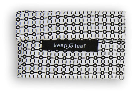 Keep Leaf Reusable Medium Baggie (Black and White) - 1