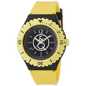 [キューアンドキュー スマイルソーラー]Q&Q SmileSolar 腕時計 20BAR シリーズ ブラック × イエロー RP04-002 メンズ