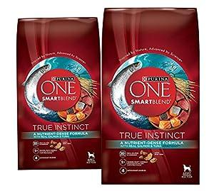 (2 Pack) Purina ONE Purina ONE Smartblend True Instinct Formula - Real Salmon & Tuna - 3.8 lb per bag