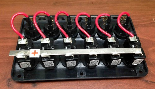 pactrade marine boat ip65 switch panel 6 gang led switches. Black Bedroom Furniture Sets. Home Design Ideas