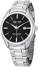 SO & CO New York  Men's 5101.2 Madison Stainless Steel Date Watch