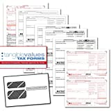 Tangible Values W-2 Laser Forms (6-Part) Kit with Envelopes for 25 Employees (2015)