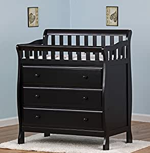 Dream On Me Marcus Changing Table and Dresser, Black, Small (Discontinued by Manufacturer)