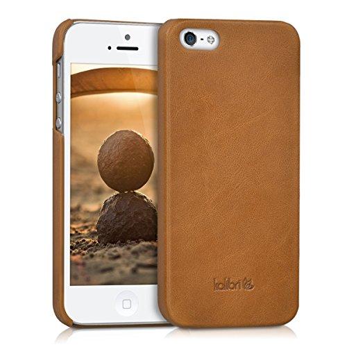kalibri-Backcover-Hlle-aus-Echtleder-fr-Apple-iPhone-SE-5-5S-in-Cognac