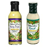 Walden Farms Calorie Free Dressing, Honey Dijon 12 oz & Ranch Dressing 12 oz (Pack of 2) (Tamaño: Pack of 2)