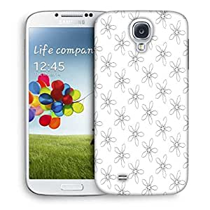 Snoogg Floral Grey Pattern Designer Protective Phone Back Case Cover For Samsung Galaxy S4