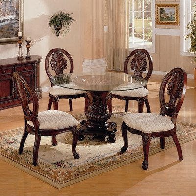 Coaster home furnishings 101030 traditional dining table for Traditional dining table bases