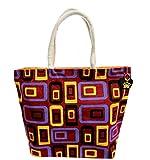Neska Moda Swachh Bharat Women's Geometric Mobile Design Red Jute Bag Shoulder Bag-B111