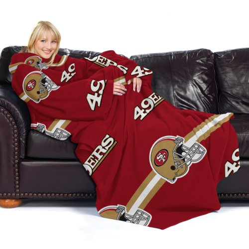 Amazon.com : NFL San Francisco 49ers Comfy Throw Blanket with Sleeves