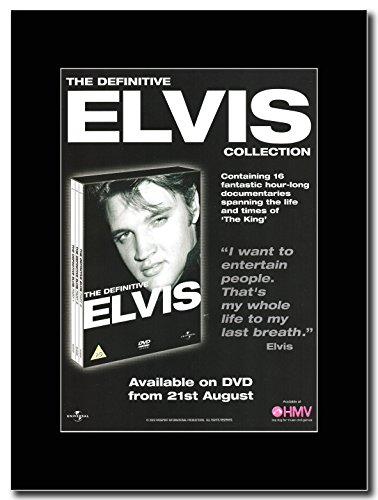 Elvis Presley-The Definitive su riviste Promo nera