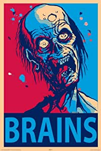 NMR 24969 Zombie Brains Decorative Poster