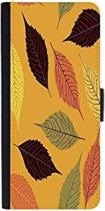 Snoogg Seamless Pattern With Leafdesigner Protective Flip Case Cover For Goog...