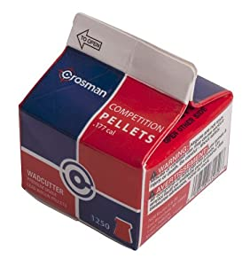 Crosman .177 Cal, 7.4 Grains, Wadcutter, 1250ct