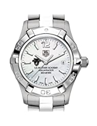 West Point TAG Heuer Watch - Women's Steel Aquaracer Watch with Mother of Pearl