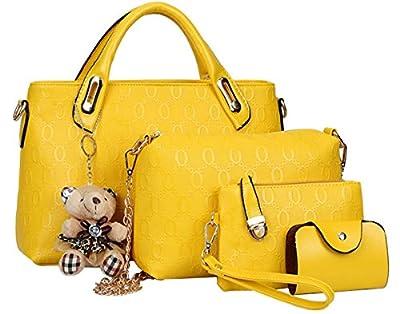 Fashion sac à main pour femme en cuir pU shoulder bag sac de sac à main de 4 pièces