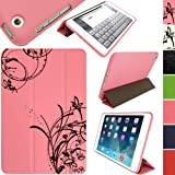 IGadgitz Luxury Pink & Black PU Leather Smart Cover Case for Apple iPad Mini 1st Gen (2012) & 2nd Gen with Retina Display (Oct 2013)with Auto Sleep/Wake + Multi-Angle Viewing Stand + Screen Protector