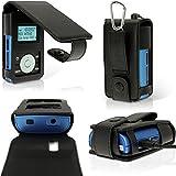 igadgitz-Schwarz-PU-Leder-Tasche-Etui-Schutzhlle-fr-Radio-Grundig-Micro-75-DAB-Case-Cover-Mit-Grtelschlaufe-Karabiner-Displayschutzfolie