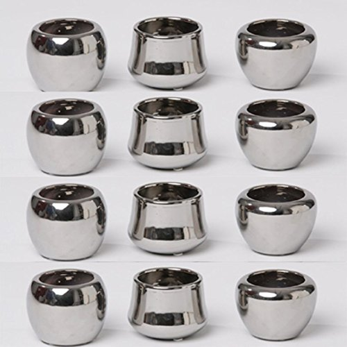 12-Stck-Keramiktpfe-mini-12-Stck-H-70-cm-silberfarben-Teelichthalter