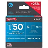 Arrow Fastener Company Inc 506 2 Pack 3/8 in. T50 Genuine Arrow 2,500pc Staple