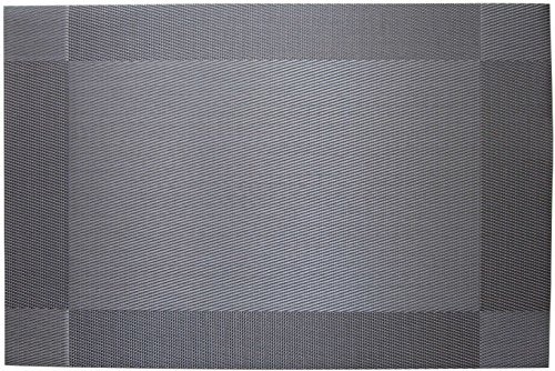 LeBeila PVC Plastic Dining Placemats, Modern Washable Place Mats Decorative for Kitchen Non Slip Insulation Table Mats in Bulk Set of 4 (Silver Gray, One Size)