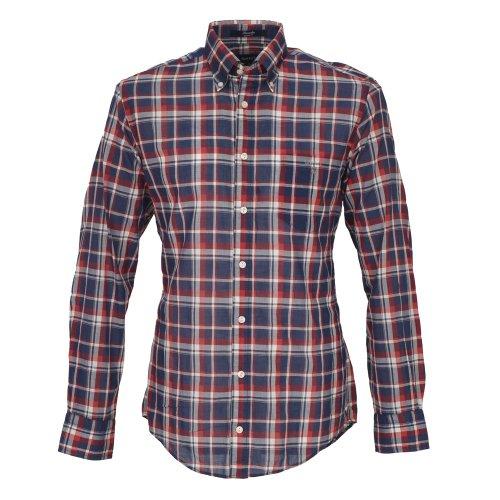 Gant Seersucker Check Shirt In Casual Fit Lge