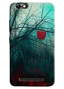Omnam Tree Printed With Red Leaf And Black Stem Printed Desinger Back Cover Case For Lenovo Vibe C (A2020)