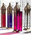Tall Elegant Moroccan Lantern Purple By White Candle Company by White Candle Company