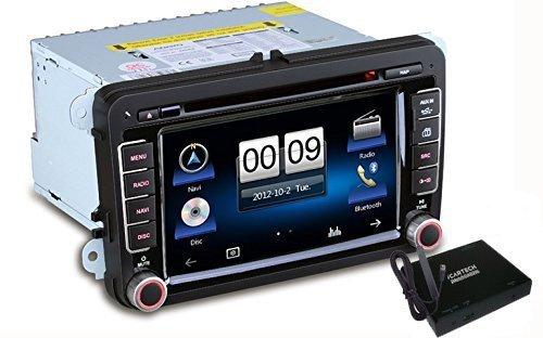 Icartech Aurora V7 Système de navigation multimédia spécialement conçu pour VW, SEAT, SKODA Technologie Bluetooth avec recherche a-b-c - Navigation GPS Évolutivité grâce aux produits iMatch: double tun