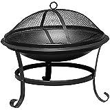 La Hacienda Albion Steel Fire Bowl - Black