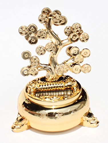 Money Fortune Coin Dancing Tree / Plant Flip Flap For GREAT LUCK Wealth Prosperity Feng Shui