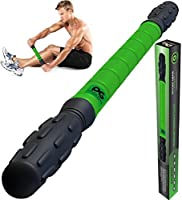 Muscle Roller Stick Pro, Best Sports Massage Tool for Sore Muscles, Releasing Cramps, Back Tightness, Myofascial, Trigger Points Pain, Legs Lactic Acid, Knots, & Calf Soreness Massager - FREE EBOOK