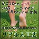 ハイグレード リアル 人工芝 ロールタイプ 芝丈20mm 1M幅 切り売り【最大9mまで】