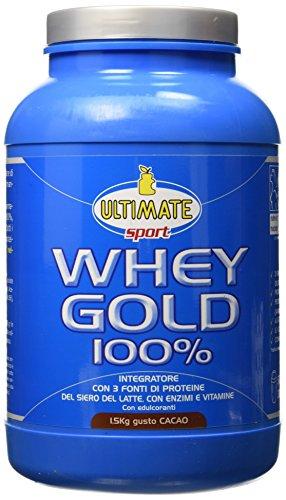 Ultimate Italia WGC1500 Whey Gold 100 % Proteine del Siero del Latte - 1500 gr
