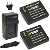 Wasabi Power Battery (2-Pack) and Charger for Panasonic DMW-BCM13, DMW-BCM13PP and Panasonic Lumix DMC-FT5, DMC-LZ40, DMC-TS5, DMC-TS6, DMC-TZ37, DMC-TZ40, DMC-TZ41, DMC-TZ55, DMC-TZ60, DMC-ZS27, DMC-ZS30, DMC-ZS35, DMC-ZS40, DMC-ZS45, DMC-ZS50
