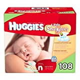 Huggies Little Snugglers Diapers, Newborn (Up to 10 lbs.), 108 ct by Huggies