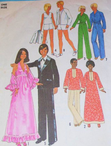 Simplicity 7737 Barbie Sewing Pattern, Wardrobe for 11 1/2